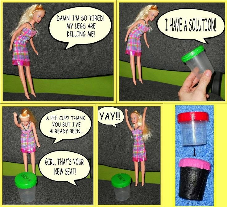 Barbie furniture DIY: From pee cup to trendy seat