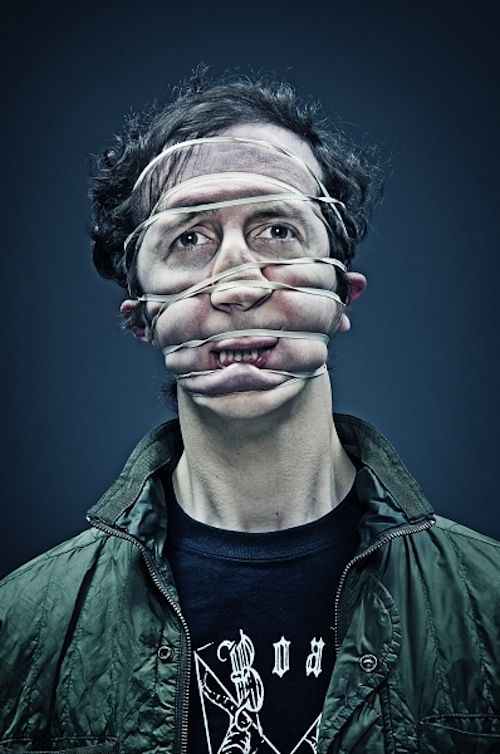 Rubber Band Portraits by Wes Naman #photography