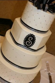 Cake, White, Wedding, Black, Silver, Fondant, Creative cakes and cookies