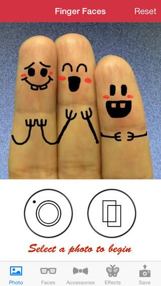 Cool Finger Faces - looks like a very fun (free) app