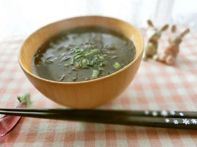 スープ もずく