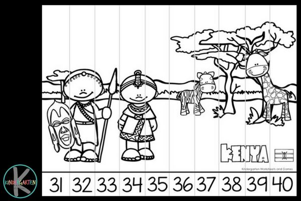 Print These Counting On Puzzles In Color Or Black And