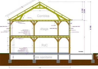 Exemples de réalisations - Maitre d'oeuvre-dessin-plan permis construire-maison-étude batiment-Aube, Troyes,10