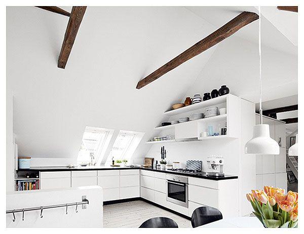 NordDeco: Kuchnia na poddaszu