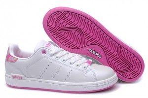 Commander Femme Adidas Stan Smith Chaussures Blanc Rose Pas Cher Prix