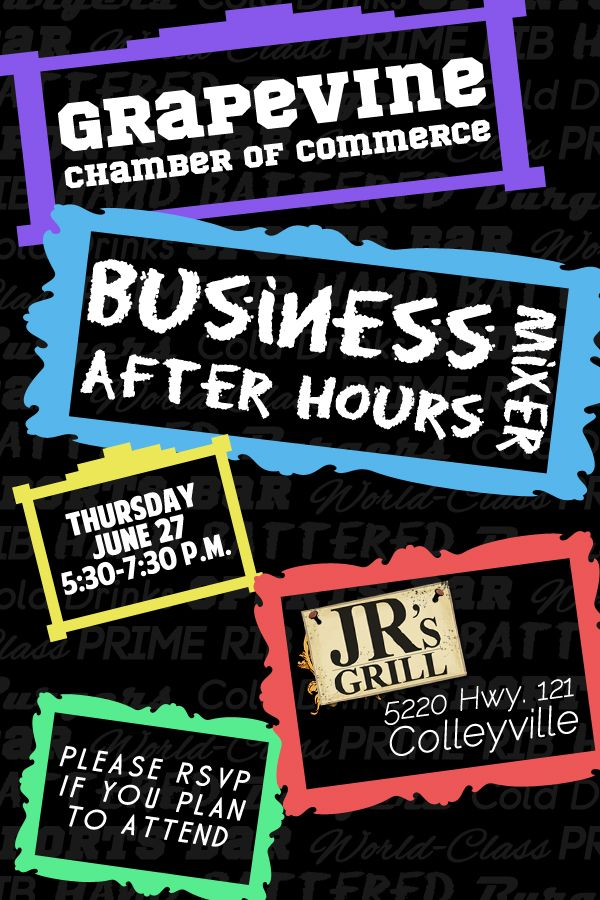 Thanks to J.R.'s Grill for hosting our #GrapevineTX Chamber Business After Hours Mixer!