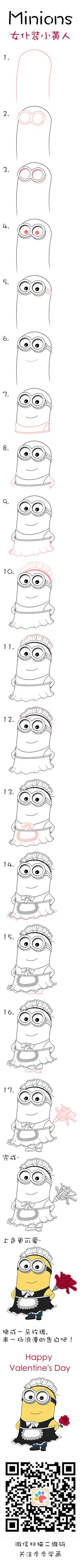Learn how to draw maid minion Phil