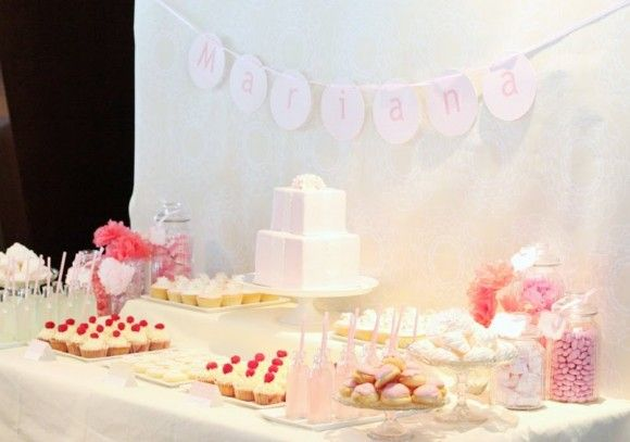 pink-yellow-birthday-party-dessert-buffet-candy-pink