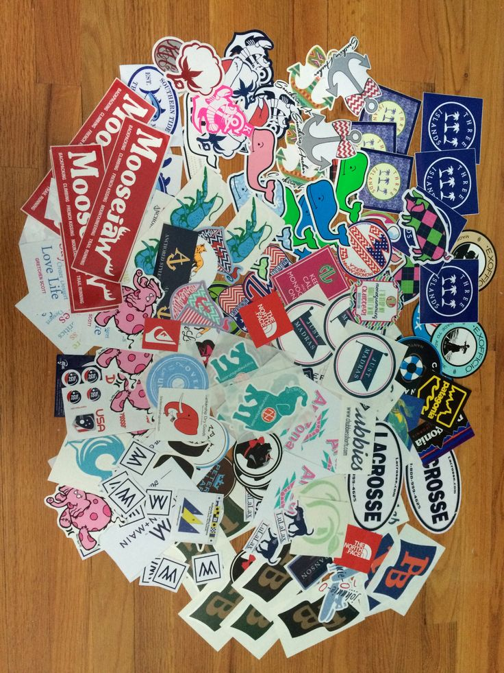 Build your preppy sticker collection for free