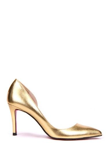Effie Side-Open Pump#yoomstreet#pumps#gold#fashion#shoes#party