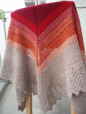 Ravelry: Transition Stash-buster Shawl pattern by Karen S. Lauger