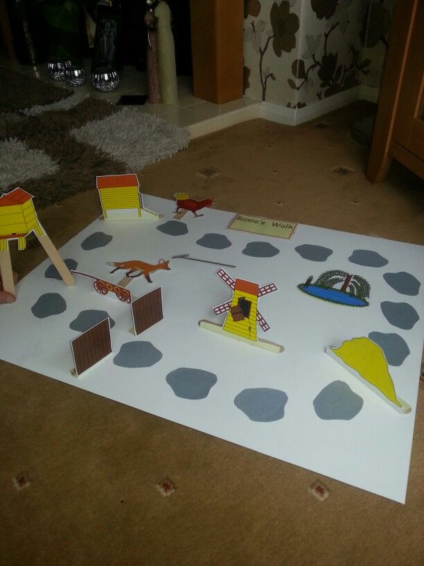 Rosie's Walk 3D storyboard - Great way to re-tell the story!