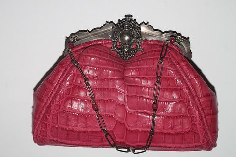 Anthony Luciano Pink Croco Leather Evening Bag (www.Lenchylux.com)