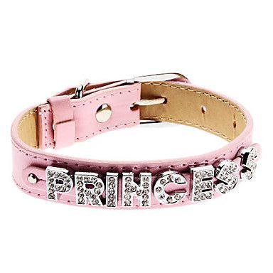 EUR € 15.72 - pequeño collar de estilo ajustable rhinestone princesa para perros (colores surtidos, cuello: 15-25cm/5.9-9.8inch), ¡Envío Gratis para Todos los Gadgets!