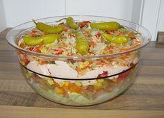 Daphnes schlanker Gyros - Schichtsalat (Rezept mit Bild) | Chefkoch.de