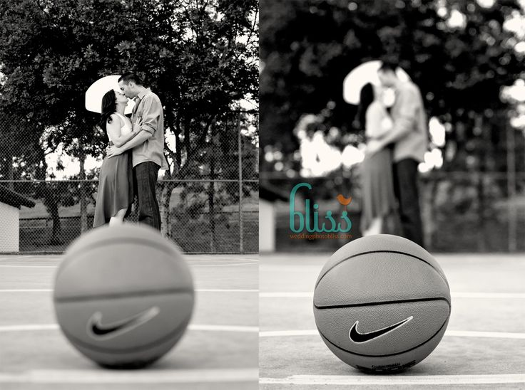 #Basketball inspired #engagement #photos of Crystal and Chris. Can't wait for their #wedding !