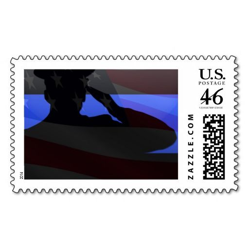 Honor law enforcement officers every day of the year with this beautiful tribute stamp. #ThinBlueLine #Police