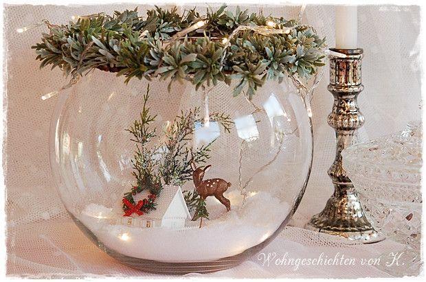 Weihnachtsdeko im Glas Shabby Chic – Mona Blümel