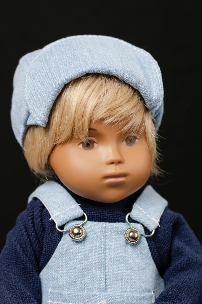 Max Has Blonde Hair And Brown Eyes Sasha Doll Denim Dungarees