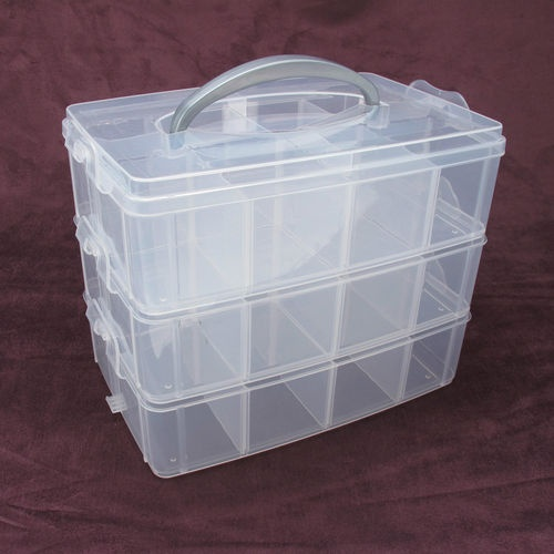 Stackable Bead Storage Box With 24 compartments ,Great For Crafts And Jewellery | eBay