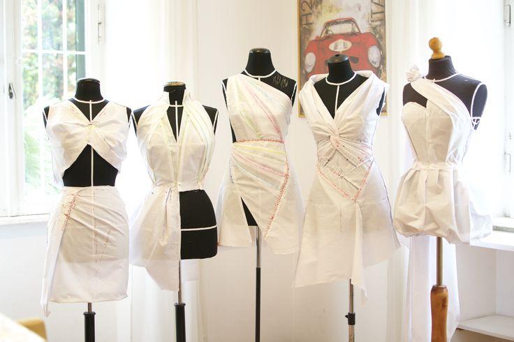Moulage fashion courses in Scuola di ricamo altamoda Roma    #moulage #draping #daniloattardi #tridimensional #students #fashionschool