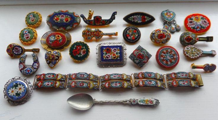 joblot / коллекция микромозаика ювелирных изделий in Украшения и часы, Винтажные и антикварные украшения, Бижутерия | eBay