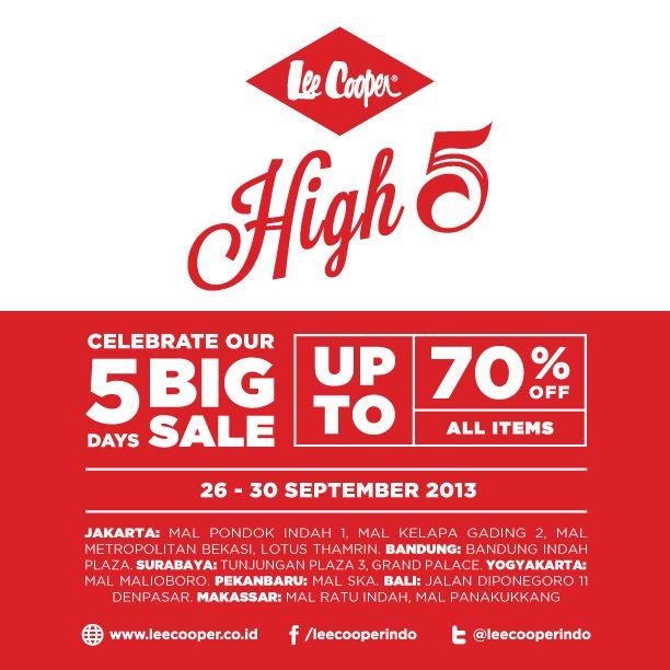 DON'T MISS IT! 5 DAYS OF BIG SALE WITH DISCOUNT UP TO 70%!! STARTS TODAY