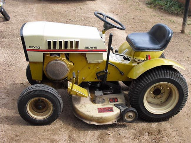 Old Craftsman Garden Tractors : Best images about vintage garden tractors on pinterest