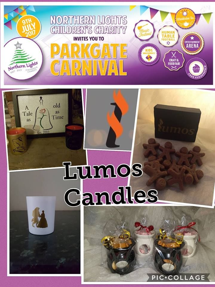 Lumos Candles & Gifts are attending the Parkgate Carnival on 9th July 2017