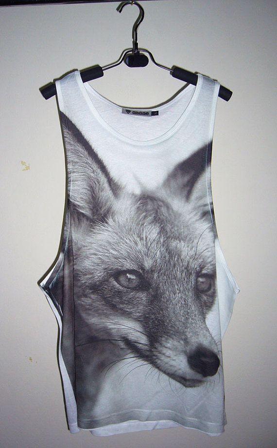 Fox Shirt Animal Tank Top Fox T Shirts Fox Tank Tops by PStopshop, $18.99