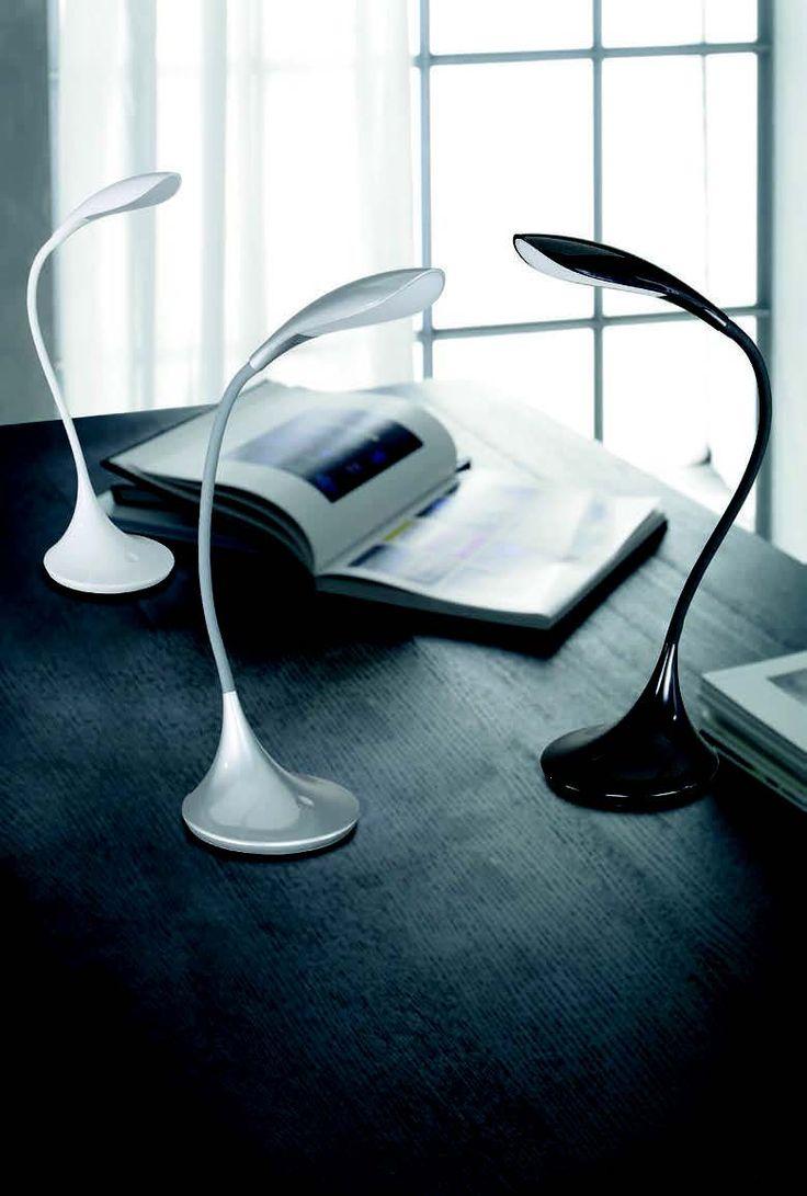 Pracovní lampička LED  WOFI WO 8025.01.06.0000 (YON) Stolní lampička s neotřelým designem pro účelné využití na vašem pracovním stole #room #lampička #wofi #modern, #lamp, #light, #lampa, #lampy, #lampičky, #stolní #modern #moderní #svítidlo #světlo #interier #interior #led