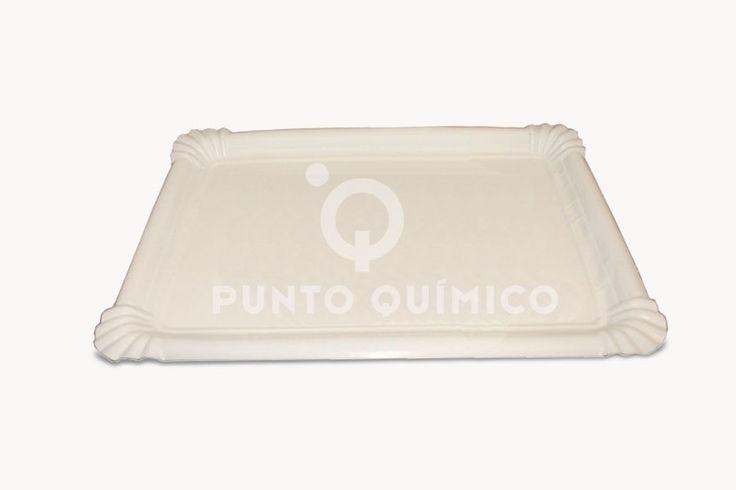 Bandeja de cartón blanca, perfecta para presentar sus dulces a sus invitados o clientes.