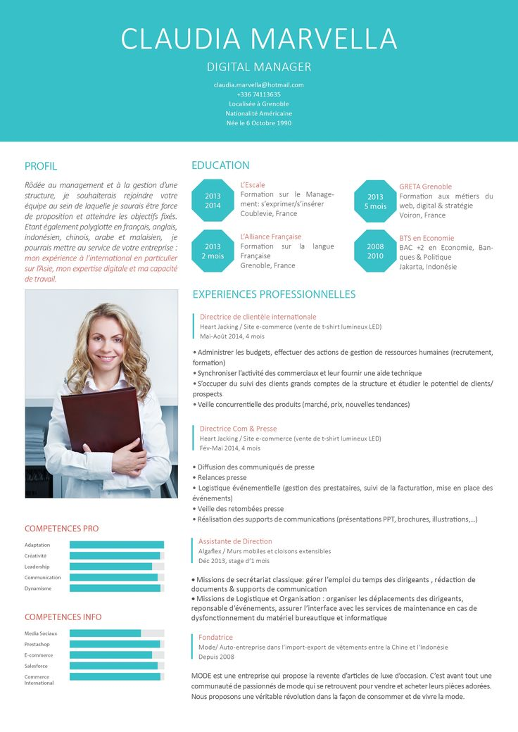 Très 65 best cv images on Pinterest | Cv design, Resume cv and Cv ideas EP34