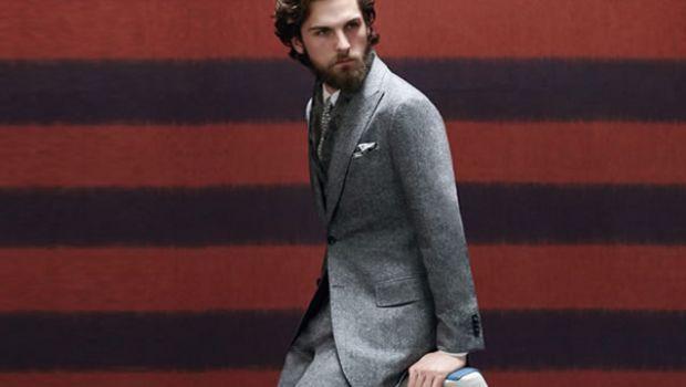 Tendenze #moda #uomo #autunno #2014: l'abito a giacca di flanella grigia