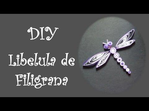 DIY elabora una Libelula de filigrana - YouTube