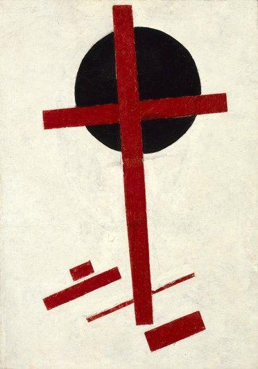 Mystiek suprematisme (rood kruis op zwarte cirkel) - Stedelijk Museum Amsterdam