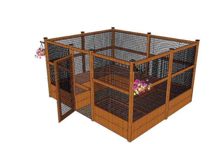 Enclosed raised veggie garden w plans permanent veggy for Vegetable bed planner