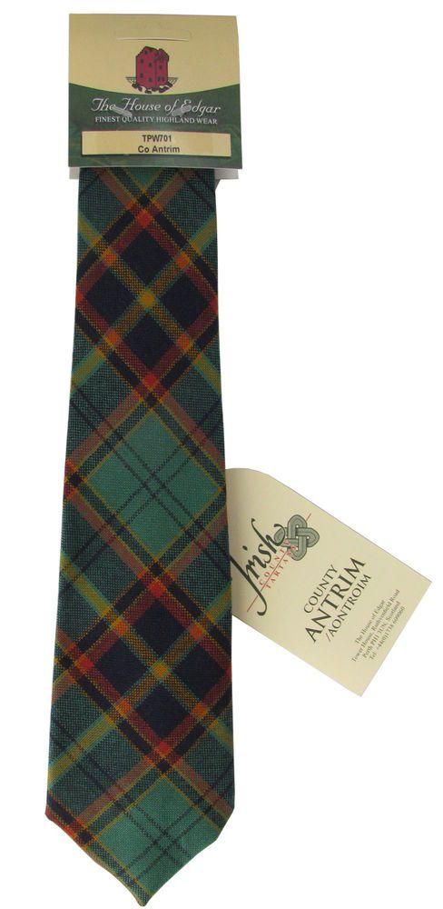 Irish County Tartan Ties, Pure New Wool - All 32 Irish Counties & Irish National #HoEScotland #MensNeckTie