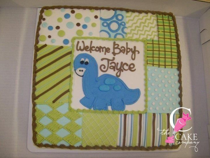 Patch Work Baby Shower Cake