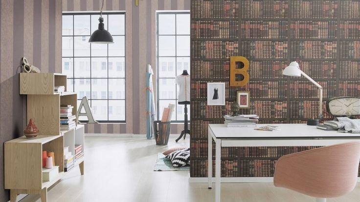 Tapet 3D cu aspect de biblioteca