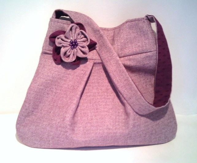 Purple Herringbone Handbag £25.00