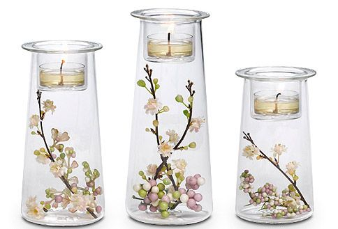 Symmetry Trio with spring blossoms! www.partylite.biz/stephaniejoana