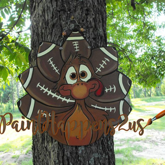 Ready to personalize Turkey sign thanksgiving by PaintHappens2Us