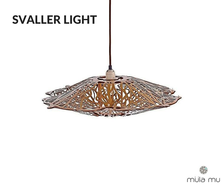 The SVALLER is a statement piece. It casts interesting shadows onto the ceiling when turn on in the evening.  *Price does not include light bulbs. http://www.mulamu.com/product/svaller-light/