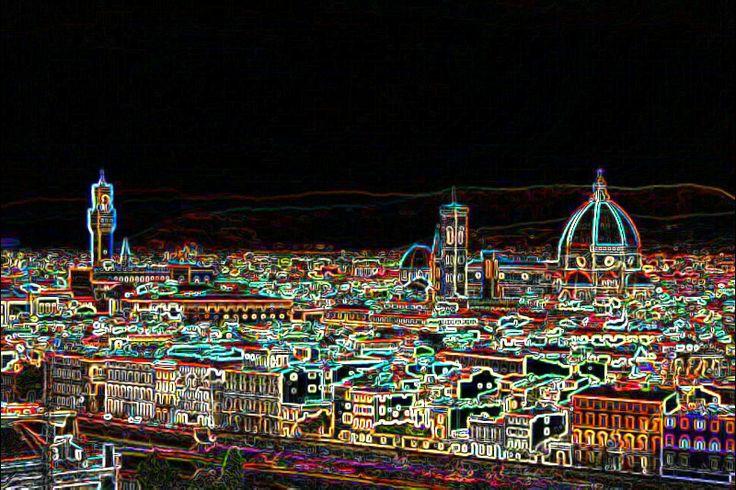 Vista su Firenze al neon!!