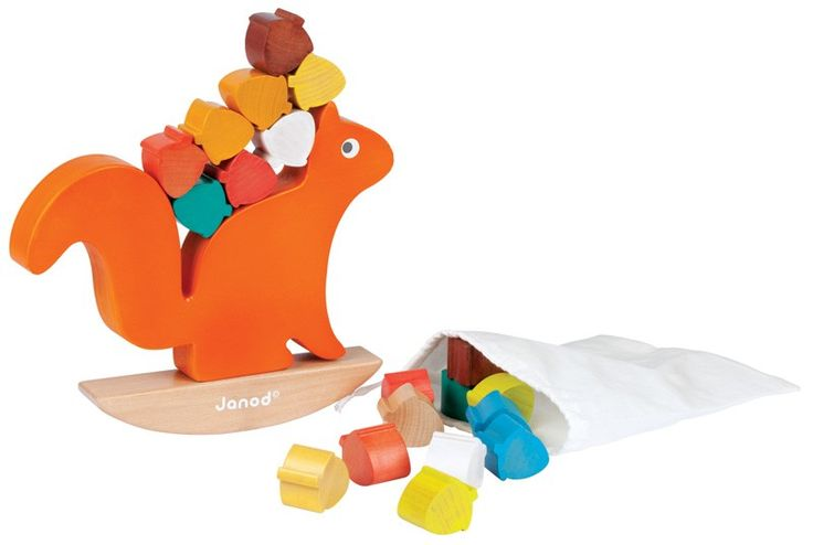 Janod - Wooden Balance Game Nutty Squirrel