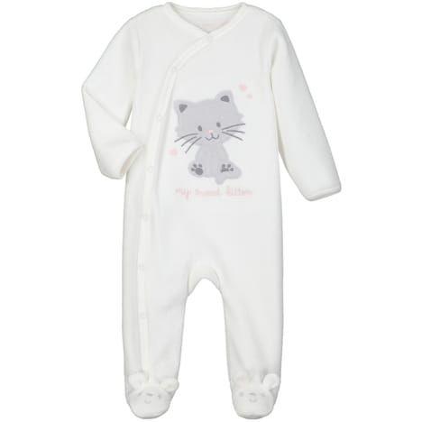 IN EXTENSO Pyjama velours chat bébé