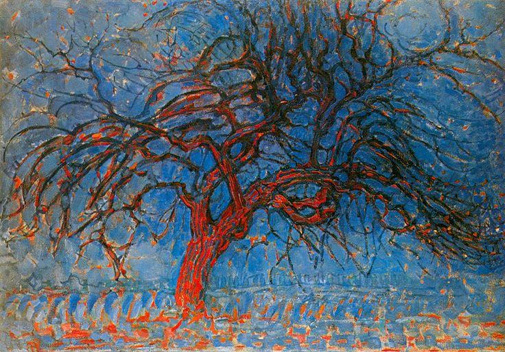 expressie in kleur de kleur van de boom is anders dan in werkelijkheid