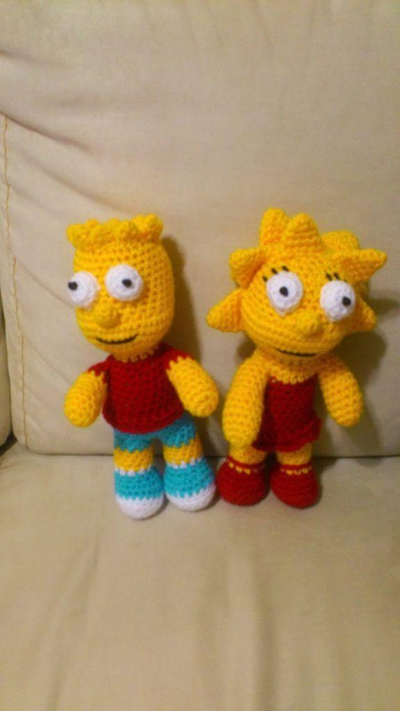 Amigurumi Crochet Bart And Lisa Simpson Free Patterns – Örgü Modelleri