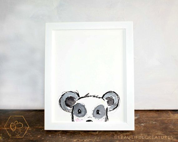 Panda Art Peek a boo Artwork Digital by BEEautifulcreatures